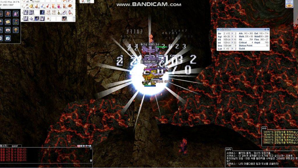 เก็บเลเวล RO Magma Dungeon